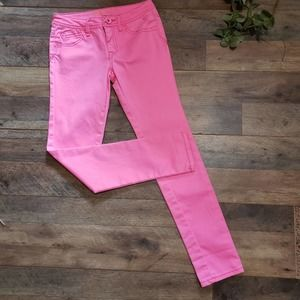 Justice Simply Low Bubble Gum Pink Skinny Jeans 12
